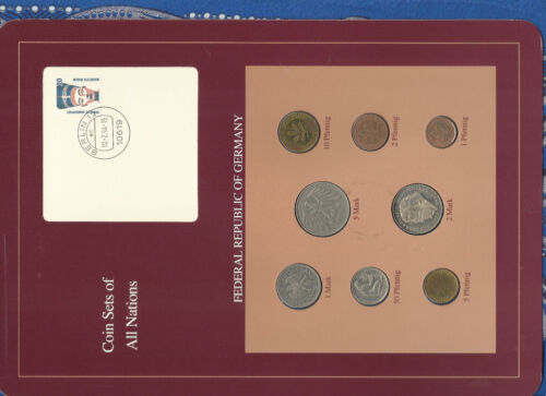 Coin sets of all nations Germany 1975-1992 UNC 2 Mark 1992 5 Mark 1975