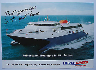 Hoverspeed Seacat 'Folkestone /Boulogne in 55 minutes' Poster