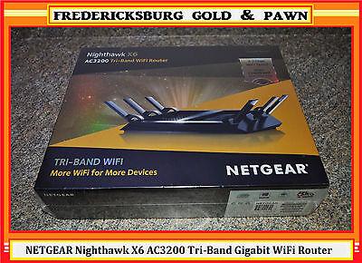 Netgear Nighthawk X6 Ac3200 Tri Band Gigabit Wifi Router R8000  Free Shipping