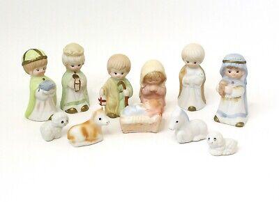 Nativity Set No Manger 11 Piece Holy Family Animals Wise Men Ceramic Porcelain