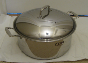 360-Cookware Cladded 12qt-Stock Pot/Brasier by Americraft- NEW