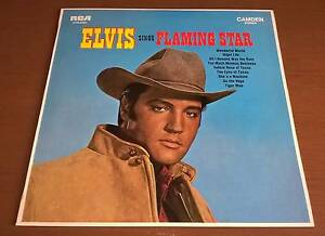 Elvis Sings Flaming Star LP Record Golden Grove Tea Tree Gully Area Preview
