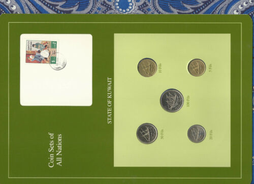 Coin Sets of All Nations Kuwait 1976-1988 UNC 5 Fils 1976 100 Fils 1988