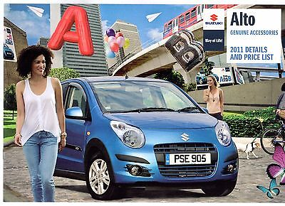 Suzuki Alto Accessories 2011 UK Market Sales Brochure