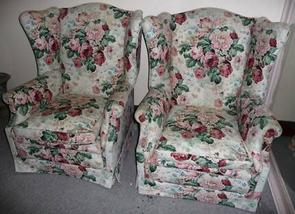 wing lounge chairs ; original  x 2 matching chairs Beverley Park Kogarah Area Preview