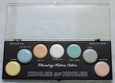 Vintage 1950's KOHLER Plumbing Fixture Color Samples Display box MCM