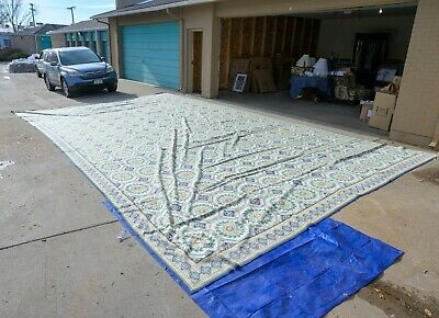 RARE HUGE William McLean Area Rug Needlepoint 16.6 ft X 28 ft (William Huges)