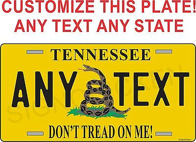 DON'T TREAD ON ME LICENSE PLATE, hunting, hunter, hunting supplies, decor, AMMO