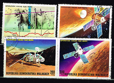 Malagasy Us Mars Space Exploration Viking Set 1970