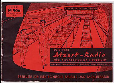 alter Katalog ATZERT RADIO um 1955 Elektronische Bauteile     ( 4718
