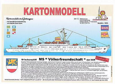 MDK-Verlag 7023 - Kartonmodell - Urlauberschiff MS Völkerfreundschaft - 1:250