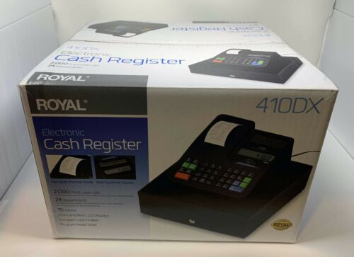 BRAND NEW IN BOX Royal 410DX Electronic Cash Register - Fast Free Shipping!