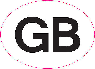 GB  Car Van Truck Sticker European legal requirement 180 x 130 mm