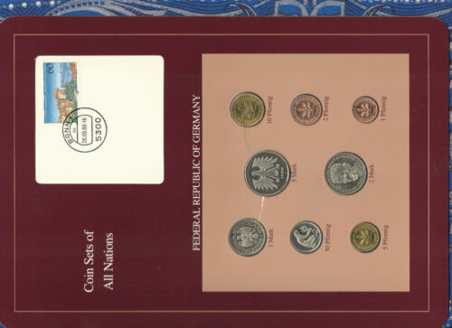 Coin sets of all nations Germany 1986 - 1988 UNC  2,5 Mark 1988 1 Mark 1986