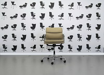 Refurbished Vitra Charles Eames EA217Conference chair - aluminuim frame - bei...