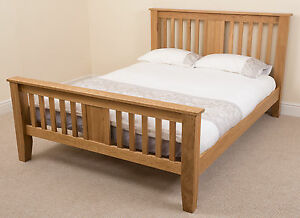 Boston Solid Oak Wood 5ft King Size Bed Frame Bedroom Furniture Wooden Beds