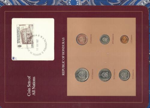 Coin Sets of All Nations Honduras 1957-1980 UNC 50 Centavos 1978 1 Centavos 1957