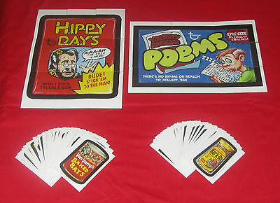 WACKY PACKAGES OLD SCHOOL 3 & 4 COMPLETE SETS & PUZZLES    PACK FRESH