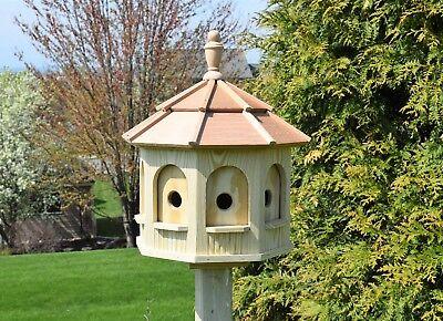 Large Gazebo Birdhouse   Wood Amish Handmade 8 rooms