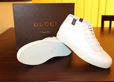 Gucci Herren Schuhe Ace Sneaker Neu mit Karton Hoher Sneaker Gr. 42