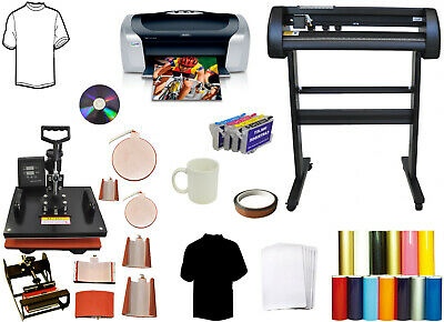 28 24 Laser Vinyl Plotter Cutterprintersublimationpu 8in1 Combo Heat Press