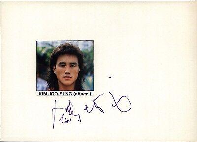 Kim Joo Sung Südkorea WM 86 - Fußball Original Autogramm Autograph (Flo-3303