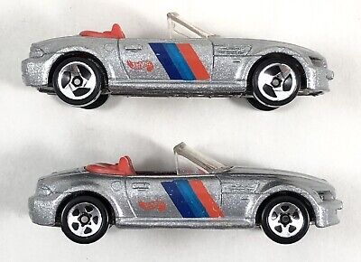 Lot of 2 Hot Wheels BMW M Roadsters Silver - Wheel Variations Loose