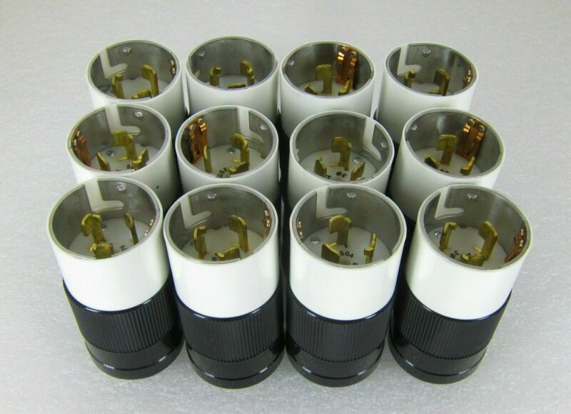 Lot of 12 - MARINCO 50 A 250 VOLT 3 Phase MALE TWIST LOCK PLUGS _ FREE SHIP