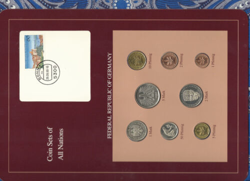 Coin sets of all nations Germany 1986 - 1988 UNC 5 Mark 1987 2 Mark 1988