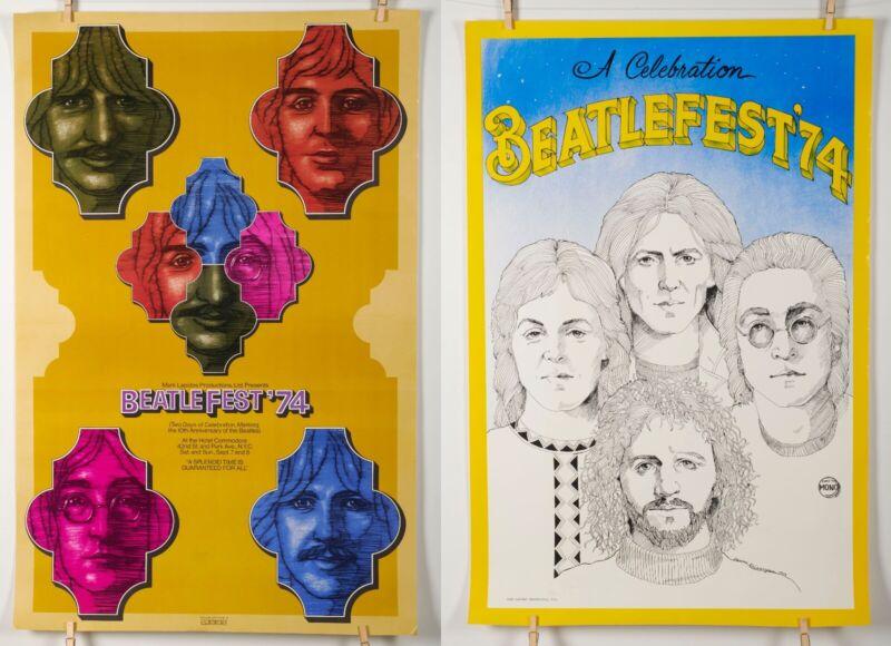Get Both!! BEATLEFEST 1974 Vintage 24x37 Posters Great Shape! Beatles