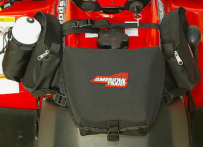 American Trails ATV Tank Saddle Bag Black Four Wheeler Luggage Fender Pack Case