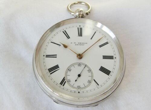 "Beautiful Sterling Silver pocket watch JW Benson London ""The Ludgate watch"" 1885"