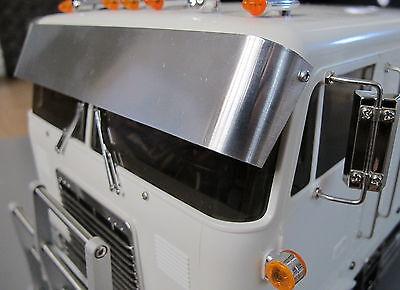 Tamiya RC 1/14 Globeliner Semi Truck Windshield Drop Lowrider Sun Visor Plate for sale  USA