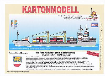 MDK-Verlag 7106 A - Kartonmodell - MS Havelland - Typ Äquator mit Kran - 1:250