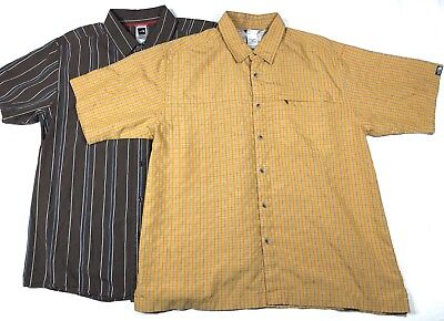 Lot of 2 THE NORTH FACE Button Down Shirts Outdoors Plaid Stripe Men's Size L