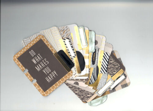 Project Life BE FEARLESS 12-PK TABBED GOLD FOIL MEMORYDEX CARDS rolodex