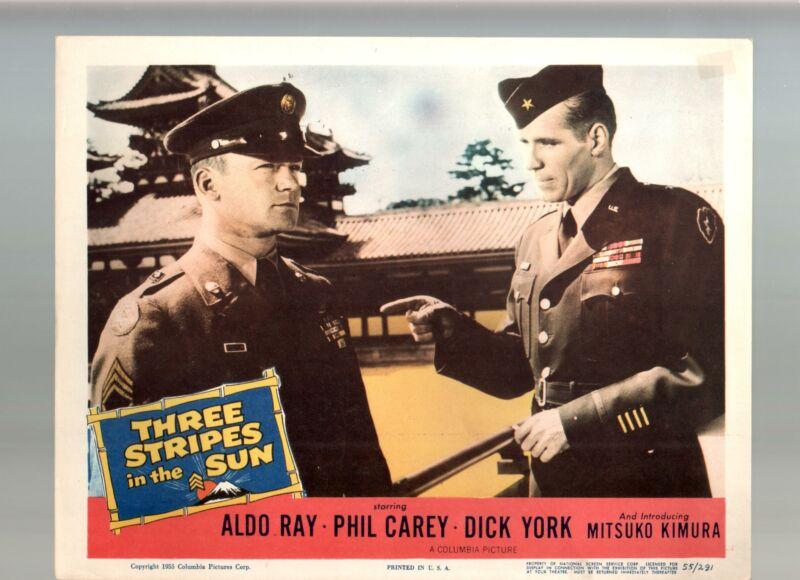 Three Stripes In The Sun-Aldo Ray-Philip Carey-Dick York-11x14-Color-Lobby Card