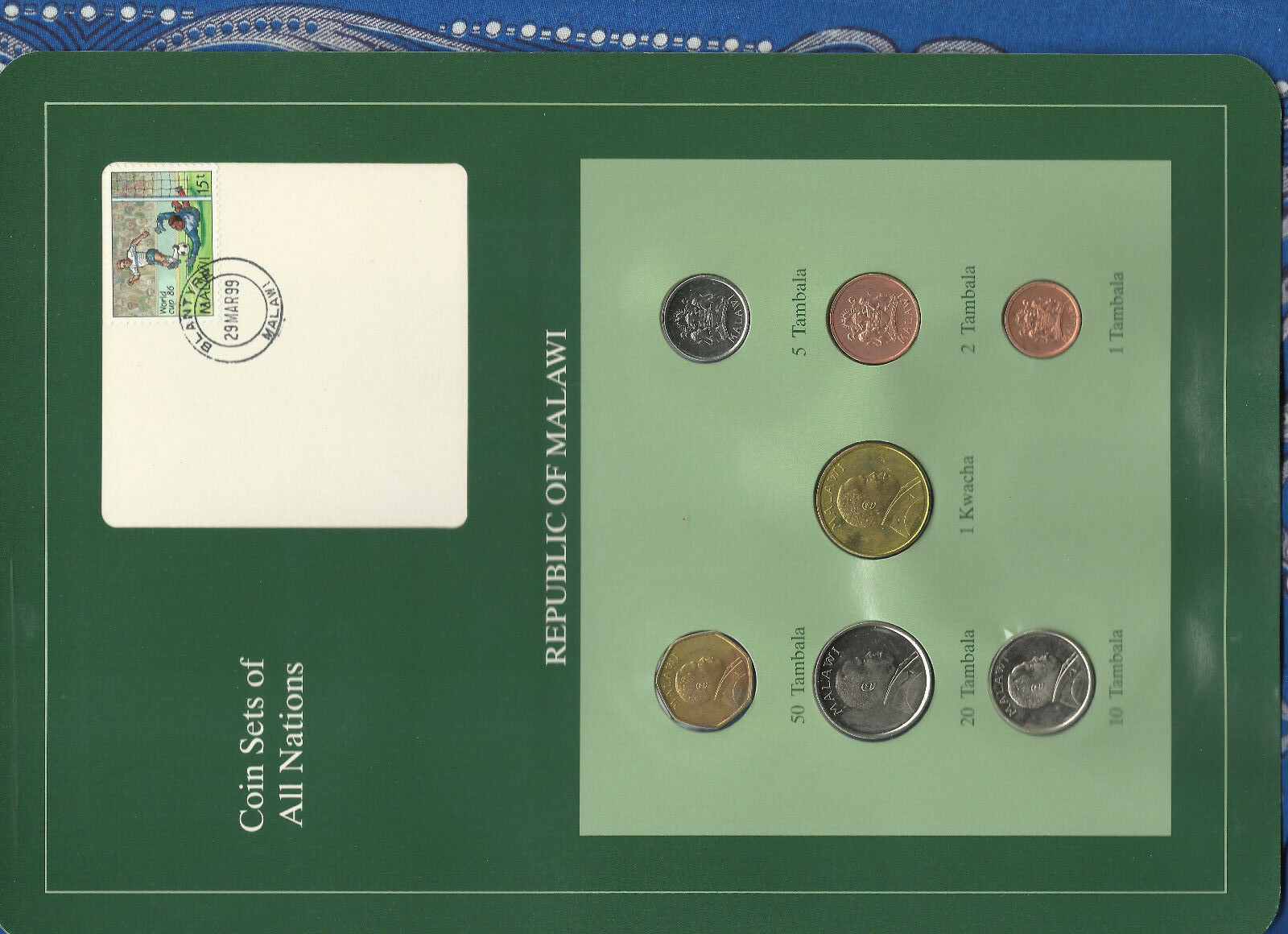 Coin Sets Of All Nations Malawi 1995-1996 UNC 1 Kwacha 50,20 Tambala 1996  - $28.80