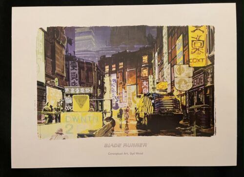 Blade Runner concept art SYD MEAD design promotional print 2007 Cityscape
