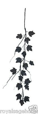 "FG321 60"" Gothic Dead Black Maple Leaf Floral Craft Garland Halloween Decoration"