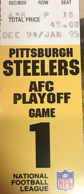Pittsburgh Steelers/ Browns 1994 Season, AFC Playoff Game 1 Ticket Clean
