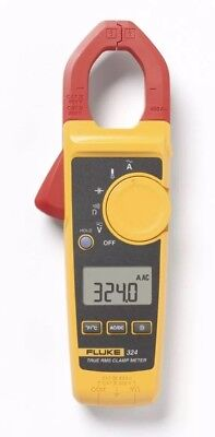 Fluke 324 40/400A AC, 600V AC/DC True-RMS Clamp Meter, Temp, Capacitance (NEW) ()