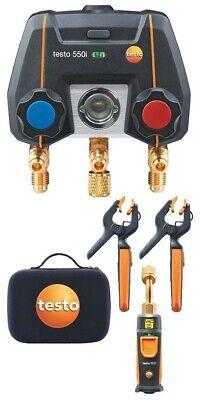 Testo 550i Smart Digital Manifold Kit With Wireless Temperature And Vacuum