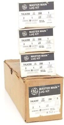 Lot Of 3 Nib Ge Thlk200 Master Main Lug Kit 120240vac 200a 1-250mcm 2pole