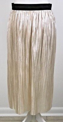 Xhilaration Long Shiny Skirt Size M Target Blush Color Elastic Waist New Year's (Target Long Skirts)