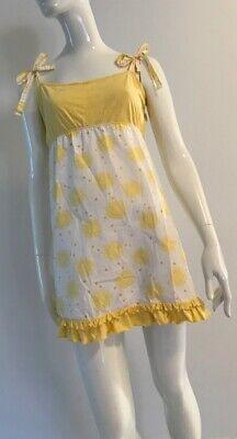 80s Dresses | Casual to Party Dresses Vintage 1980's Sunflower Print Tie Shoulder Holly Hobbie Dress $38.65 AT vintagedancer.com