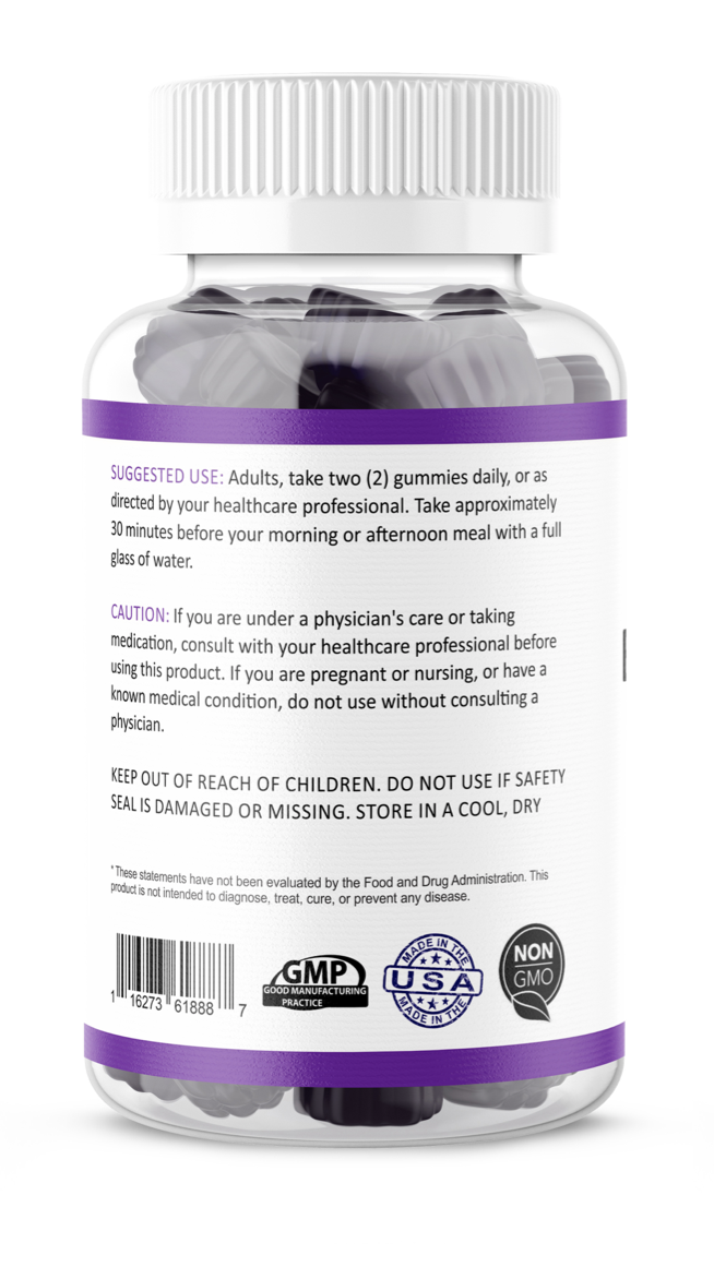 Black Elderberry Gummies Vitamin C Zinc 260mg Natural Berry Flavor Immune Boost  2