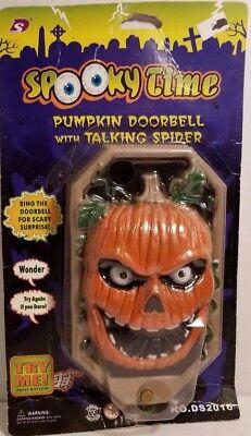 Halloween Pumpkin Spooky Doorbell Spooky Voice Sound Effects Light Up Eyes ](Halloween Doorbell Sound Effect)