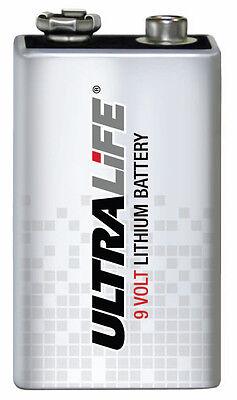 ULTRALiFE 9V-E-Block Rauchmelder-Batterie Lithium 6LR61 MN1604 U9VL 4022