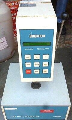 Brookfield Model Cap1000h Viscometer Cap1000 Serial No Cp63619